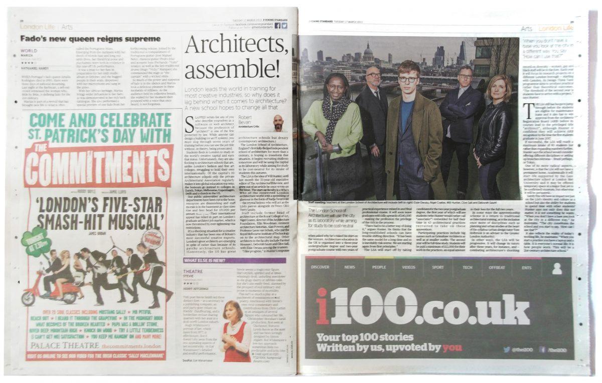 Elsie Owusu, Nigel Coates, Will Hunter, Clive Sall and Deborah Saunt (Picture: Matt Writtle, Evening Standard)