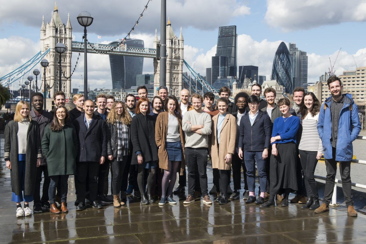 Our trailblazing cohort of students – photographed outside the Design Museum in March, 2016 – will enter the first Proto-Practice Year this October