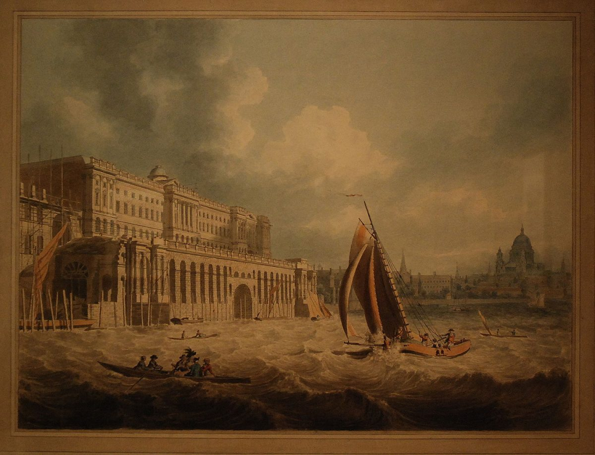 A painting of Somerset House by Edward Dayes in 1788, from the collection of the Courtauld Gallery, the LSA's new neighbours